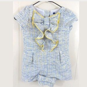 Janie and Jack Girls Tweed Romper